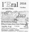 l'Eral 2016 Blanc de Casa Patau